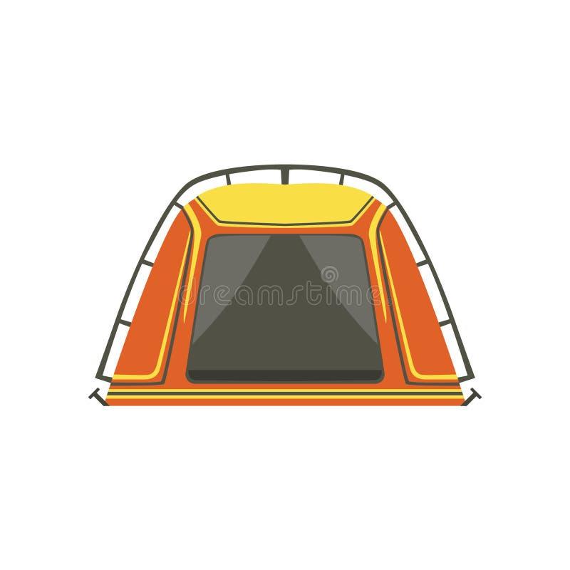 Litet orange ljust färgpresenningtält vektor illustrationer