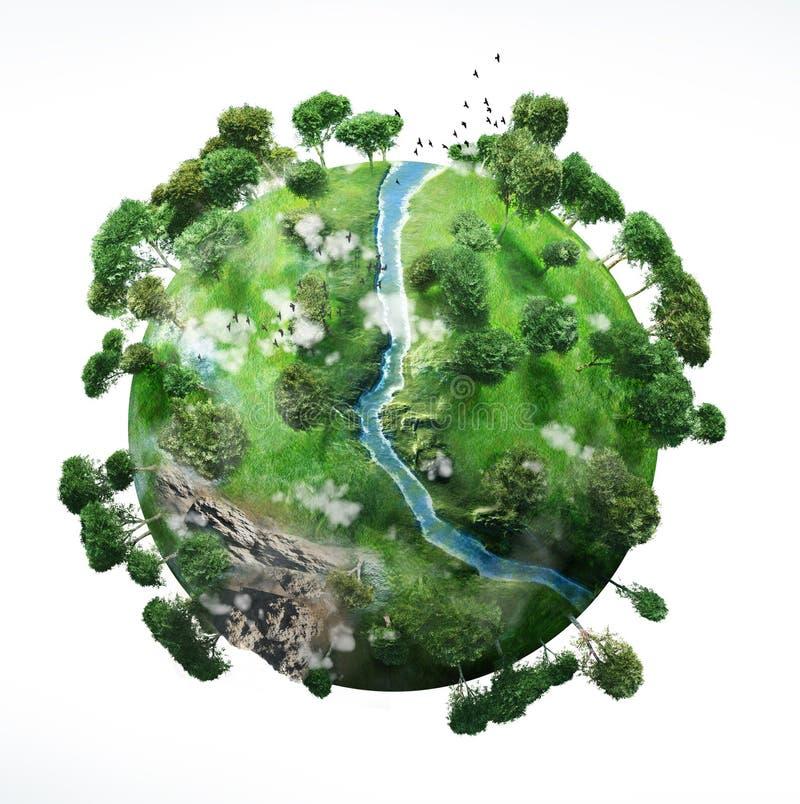 litet planet royaltyfri illustrationer