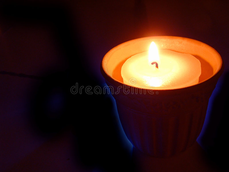 litet stearinljus royaltyfria foton