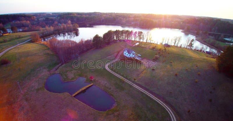 Litewscy jeziora zdjęcia stock