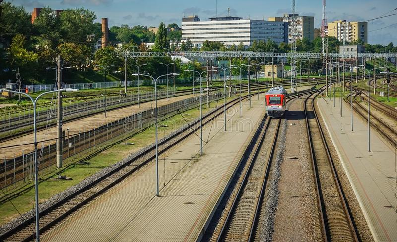 Litewska stacja kolejowa Wilno zdjęcia royalty free