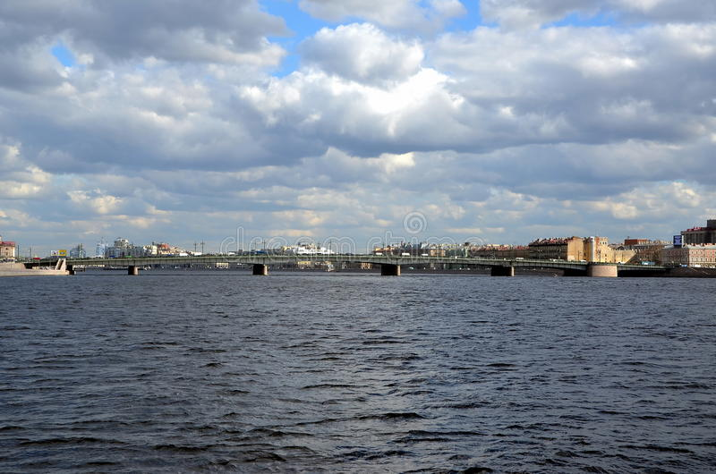 Liteyny Bridge in St-Petersburg royalty free stock photography