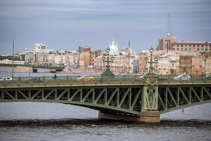 Liteyny bridge in St. Petersburg. Russia. Beautiful architecture royalty free stock image