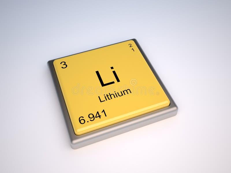 Lithium stock abbildung