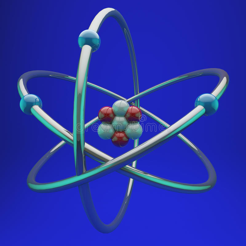 Lithium atom royalty free stock images