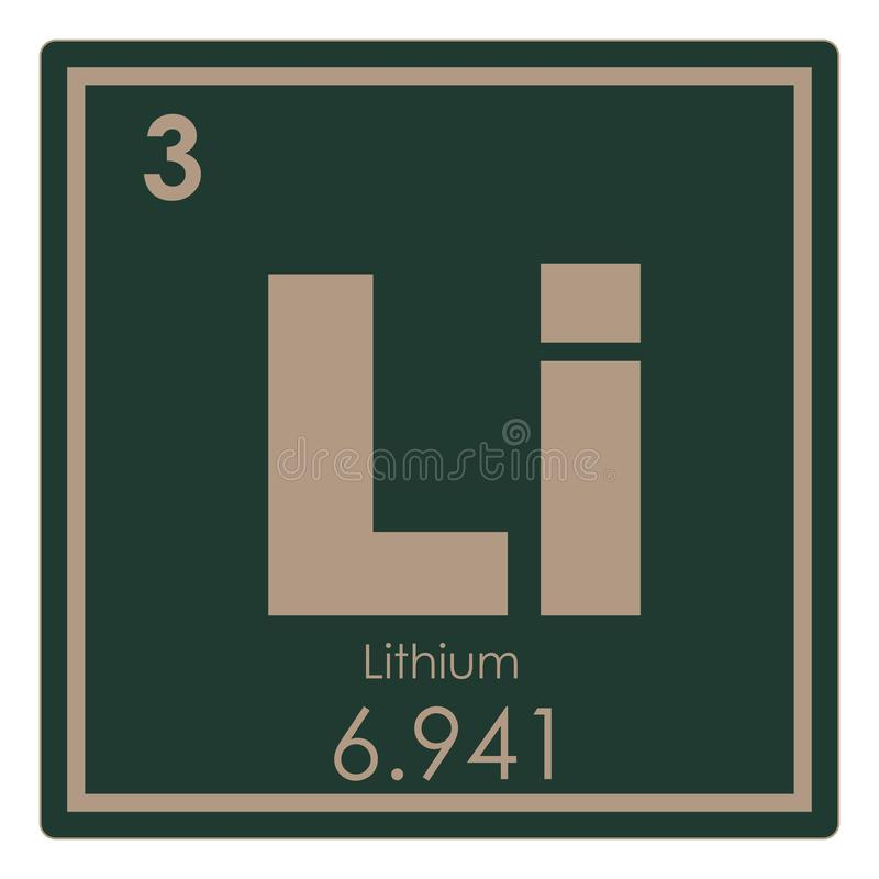 Lithium chemical element stock illustration illustration of lithium chemical element periodic table science symbol urtaz Choice Image