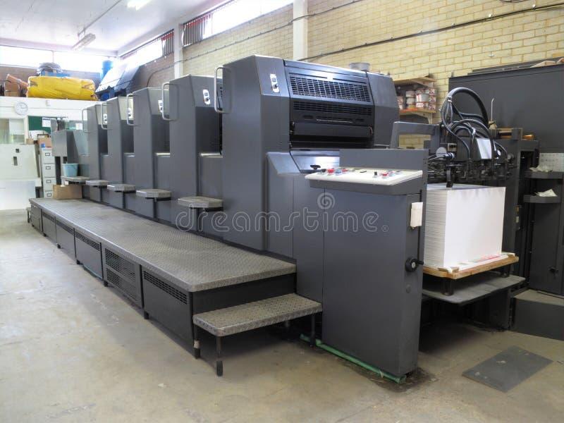 Lithographiedruckenmaschine stockbilder