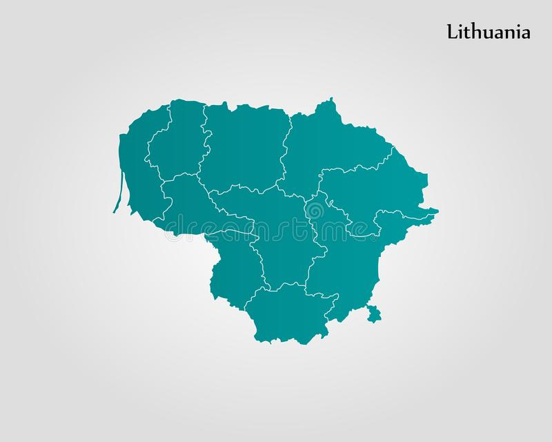 lithuania översikt vektor illustrationer