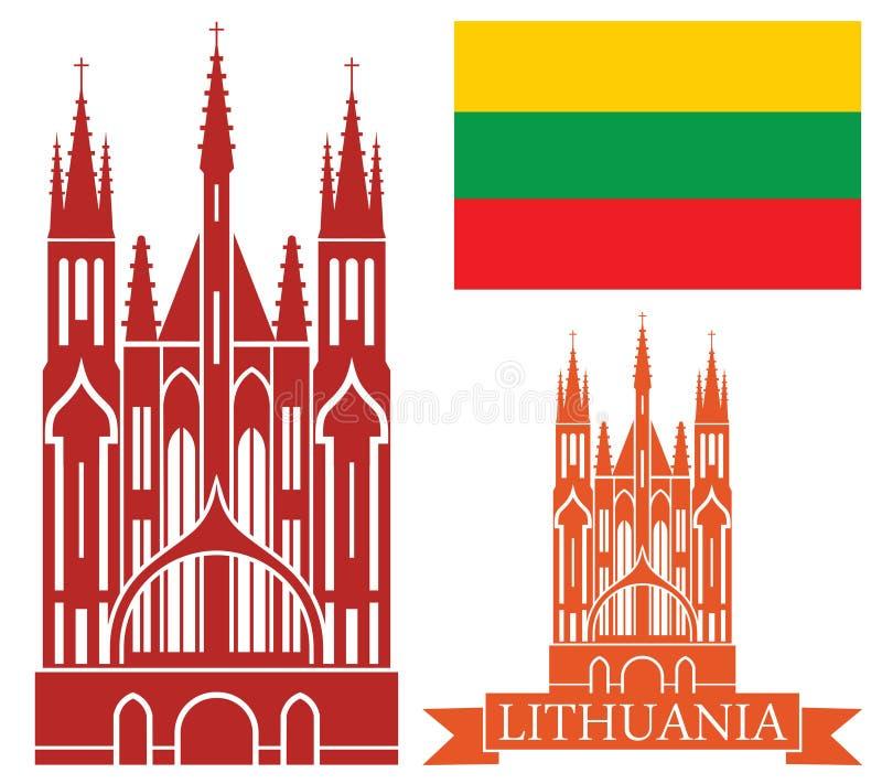 lithuania illustrazione vettoriale