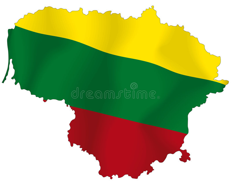 Download Lithuania stock illustration. Image of country, detailed - 6455972