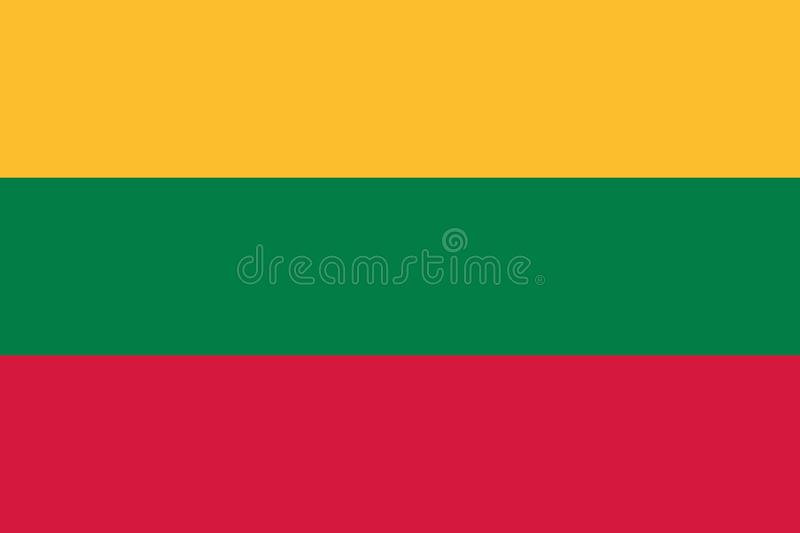 Lithuania flag vector stock illustration