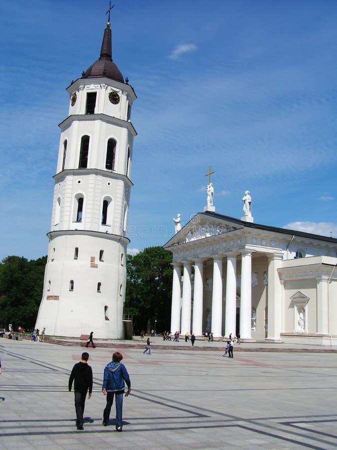 lithuania gammal town vilnius royaltyfria bilder