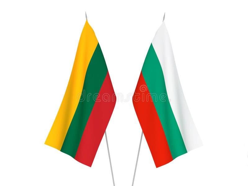 Lithuania i Bułgaria flagi ilustracji