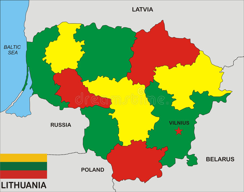 Lithuania Map Stock Illustration Image Of Lithuania - Lithuania map
