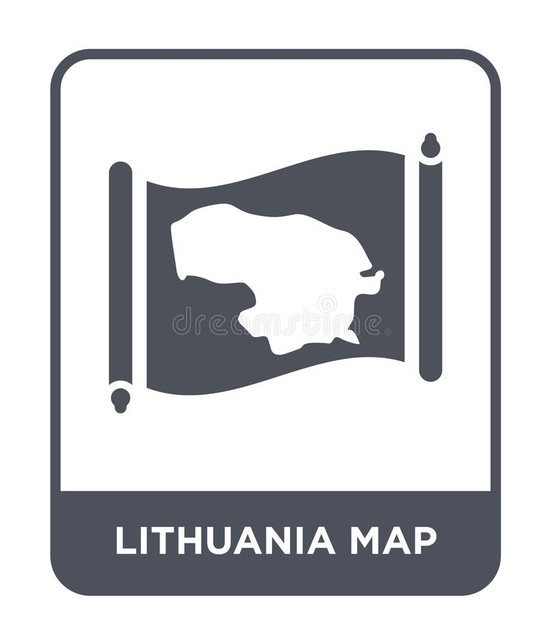 Lithuania map icon in trendy design style. lithuania map icon isolated on white background. lithuania map vector icon simple and. Modern flat symbol for web vector illustration