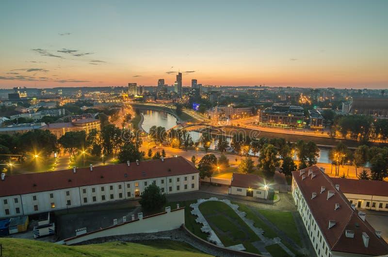 lithuania powietrzny widok Vilnius obrazy royalty free