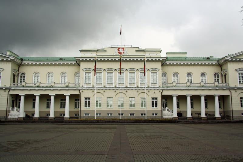 lithuania slott presidents- vilnius arkivfoto