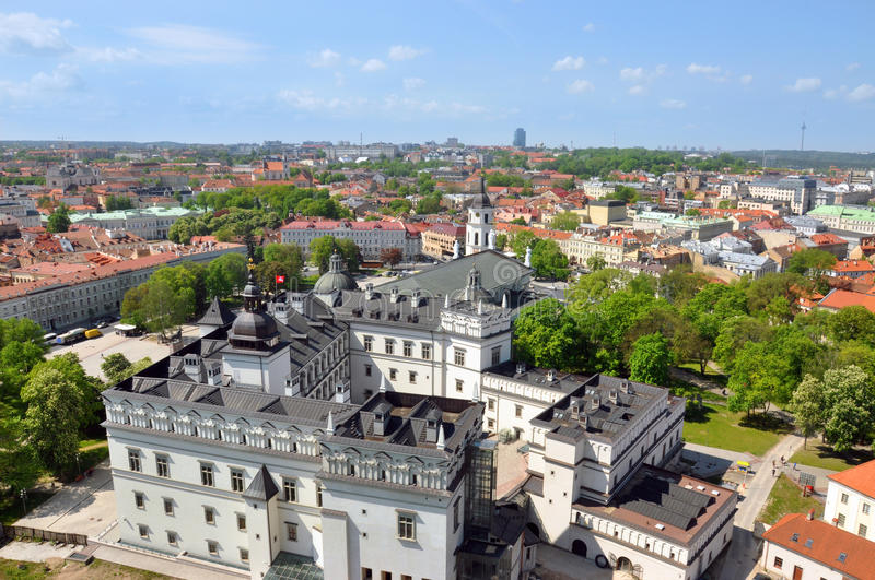 Lithuania Tower Gedymin. Top view stock images