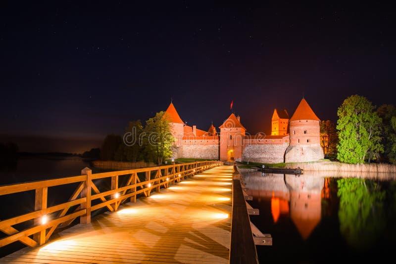 Lithuania Trakai kasztel zdjęcie stock