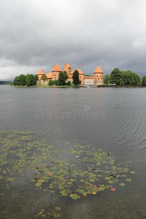 LITHUANIA, VILNIUS COUNTY, TRAKAI - JULY 03, 2018: Trakai Island Castle in Lithuania. Scene in Lithuania on a day in July 2018 stock photo