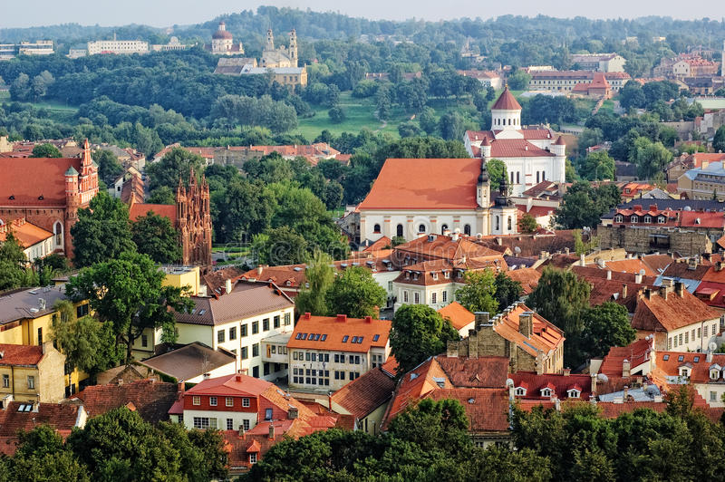 lithuania widok stary grodzki Vilnius fotografia royalty free