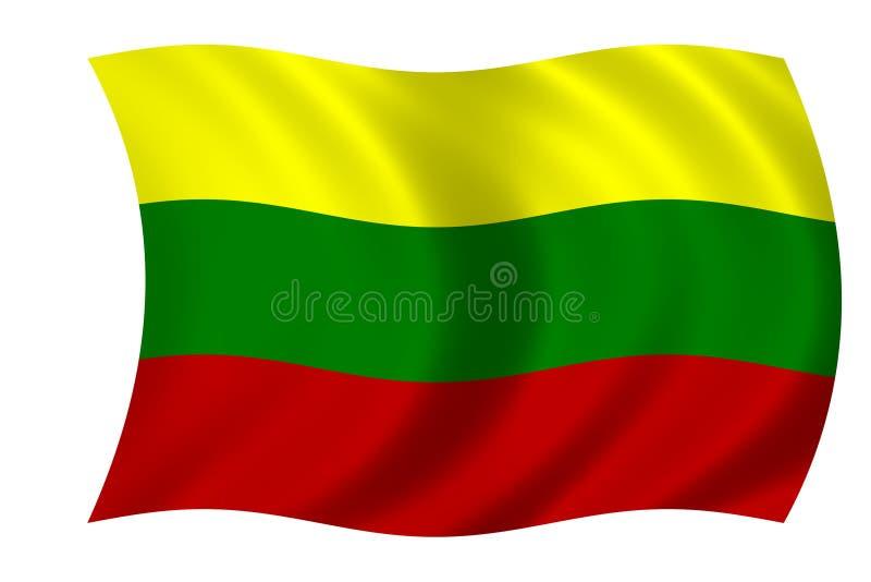 lithuanian флага иллюстрация вектора