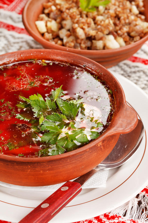 lithuanian borscht стоковая фотография rf