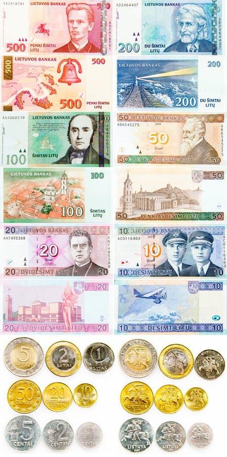 Lithuanian Litas todo o curency fotografia de stock royalty free