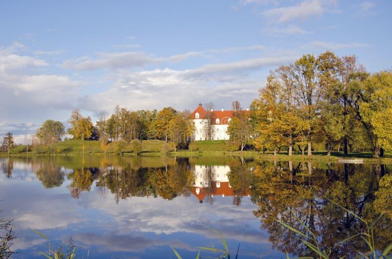Lithuanian medieval historical castle Birzai stock photos