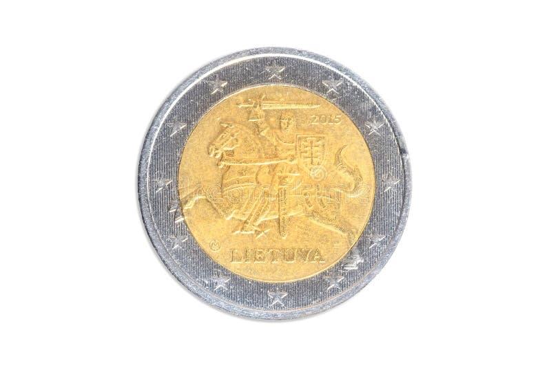 Lithuanian two euro coin stock photos