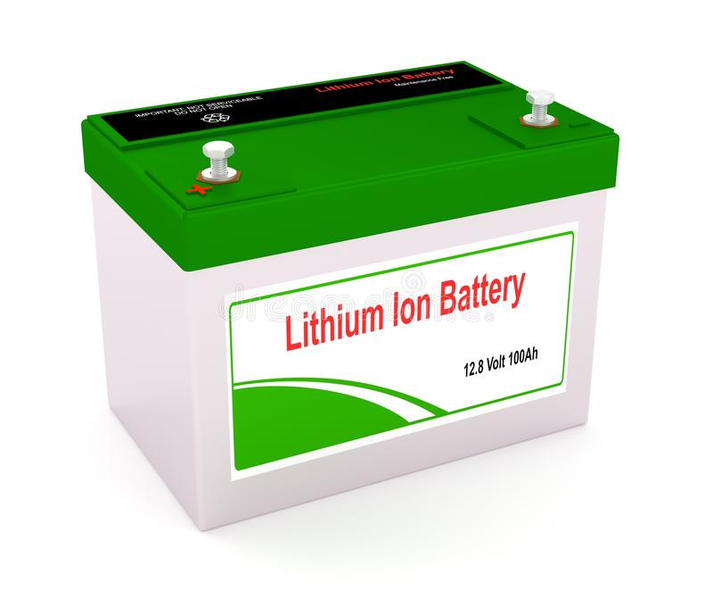 Litio Ion Battery stock de ilustración