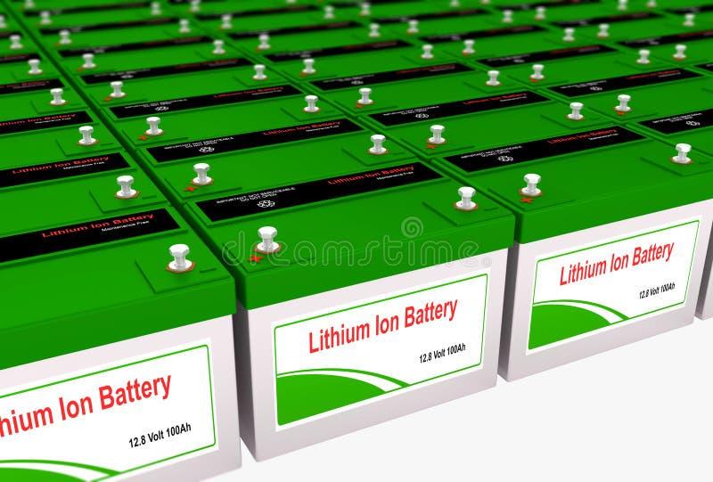 Litio Ion Battery Bank ilustración del vector