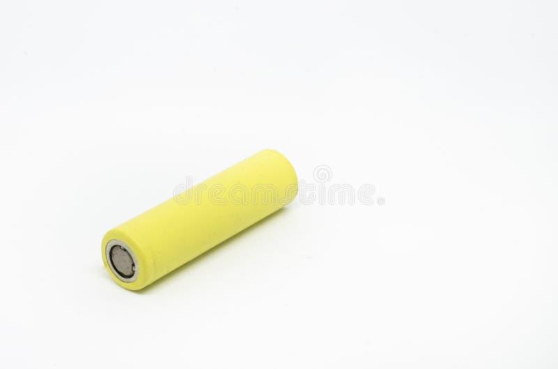 Litiumbatteri som isoleras på vit bakgrund royaltyfri bild
