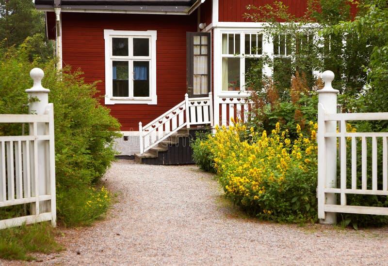 Litle czerwony dom obraz stock