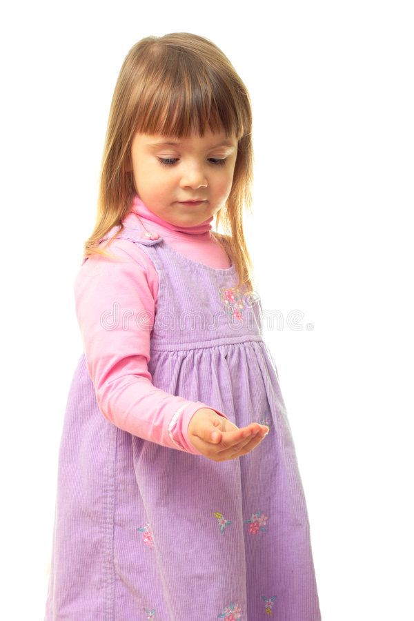 Download Litle Girl Holding Smth In Her Hand Stock Image - Image: 8121237