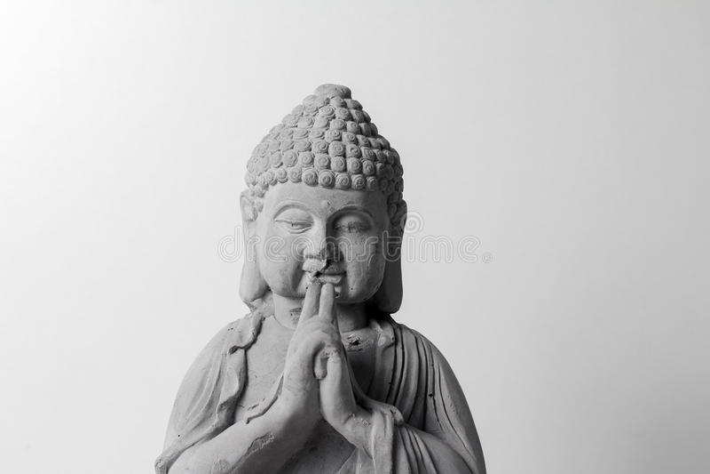 Litle statue of buddha royalty free stock photo