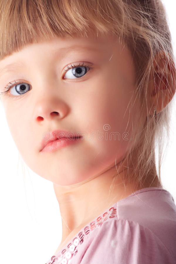 Litlle Girl Face Royalty Free Stock Images