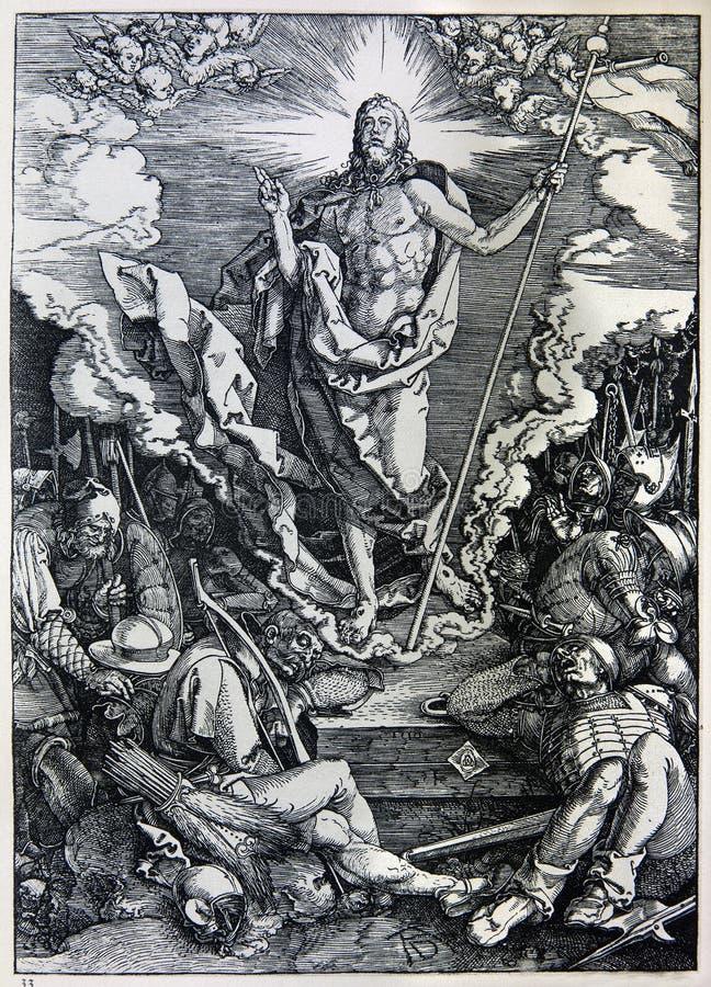 Litografía de la resurrección de Cristo imagen de archivo libre de regalías