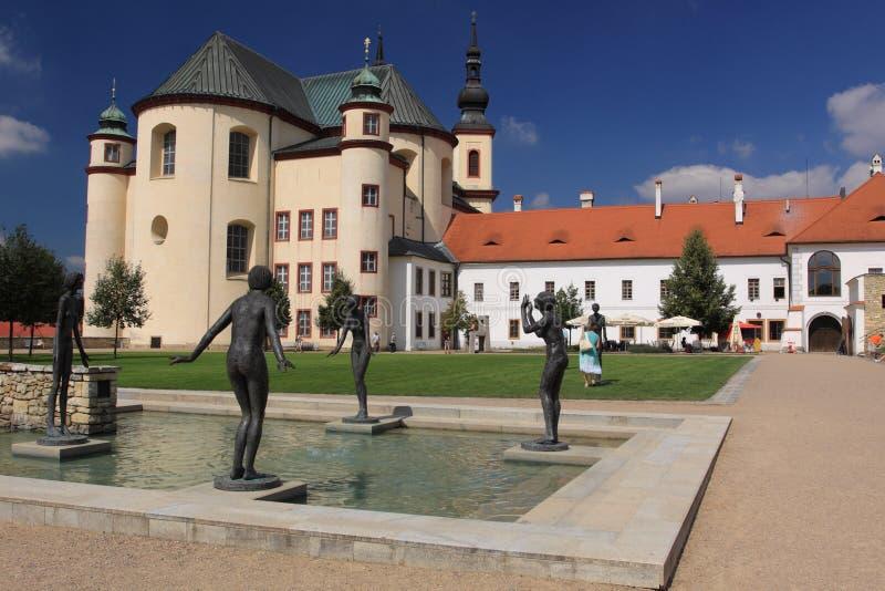 Litomysl Kloster stockbild