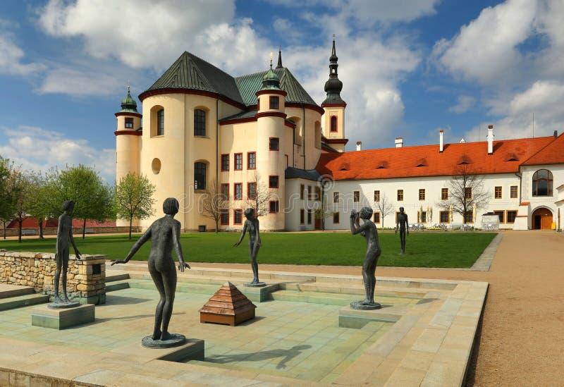 Litomysl-Kloster in Böhmen stockfotografie