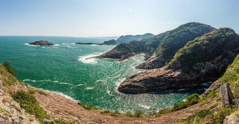 Litoral bonito do cabo de Hyuga em Miyazaki, Kyushu imagem de stock