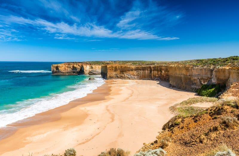 Litoral bonito na grande estrada do oceano, Victoria - Australi foto de stock