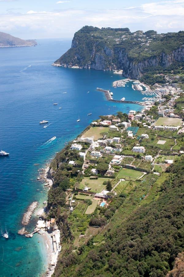 Litoral de Capri fotos de stock