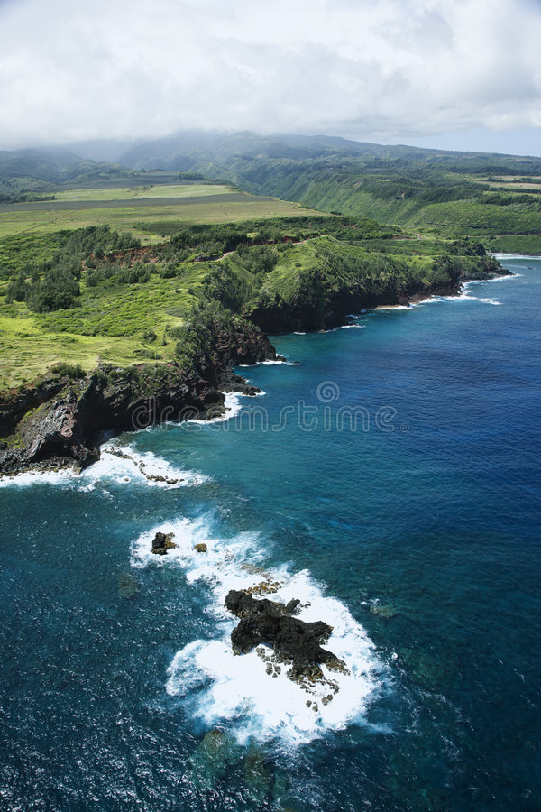 Litoral de Havaí. imagem de stock royalty free