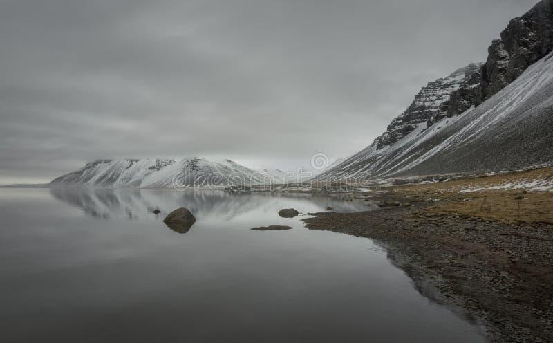 Litoral de Islândia imagens de stock