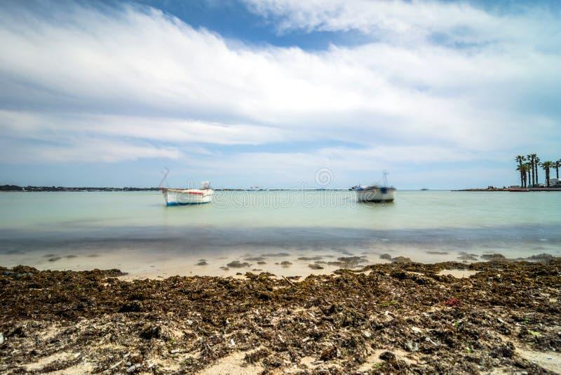 Litoral de Porto Cesareo na costa Ionian, Itália imagens de stock royalty free
