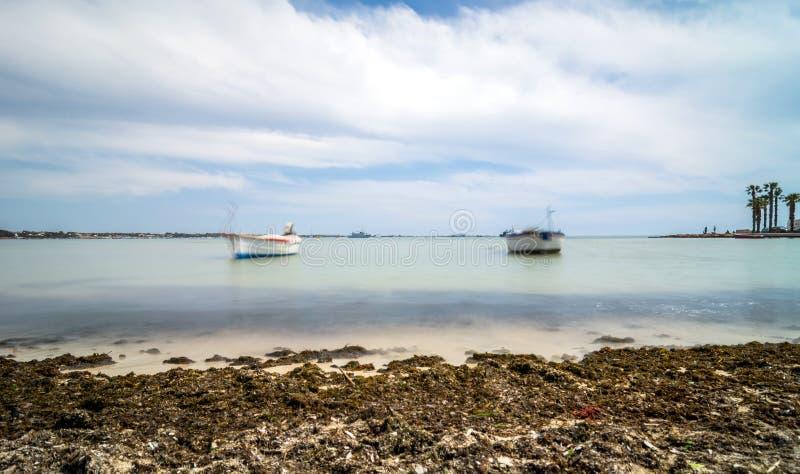 Litoral de Porto Cesareo na costa Ionian, Itália fotografia de stock royalty free