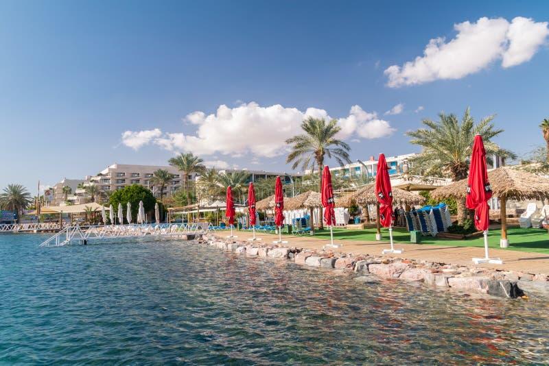 Litoral do Mar Vermelho em Eilat fotos de stock royalty free
