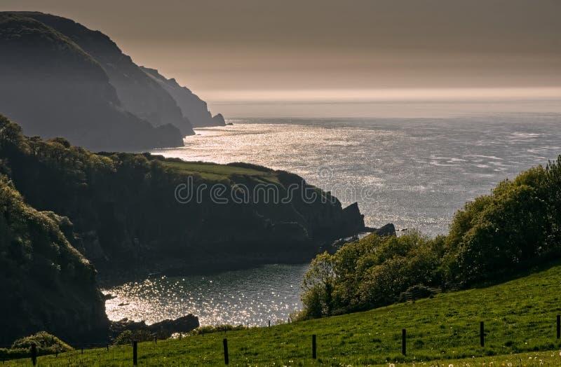 Litoral em Devon norte, Inglaterra fotos de stock