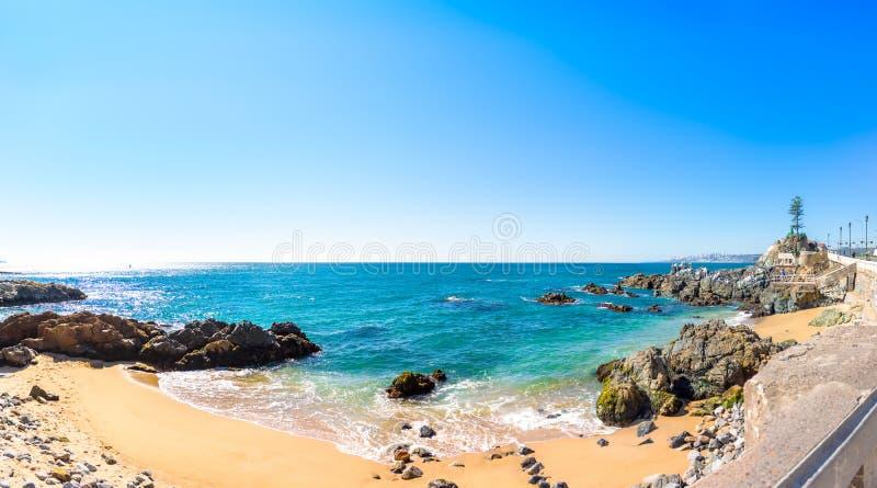 Litoral em Vina del Mar, o Chile fotografia de stock royalty free